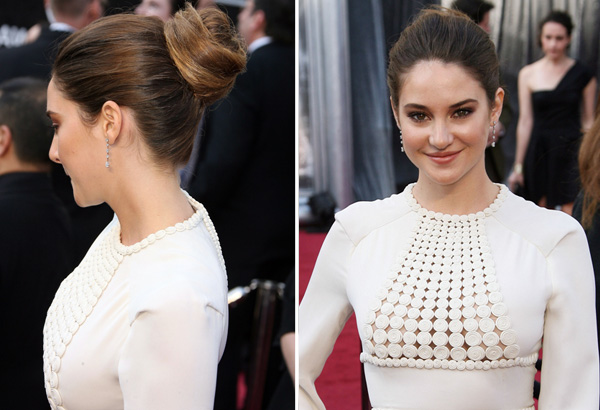 Shailene Woodley's 2012 Oscars hair