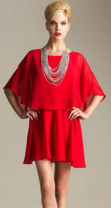 Gossip Girl By R&J chiffon capelet dress