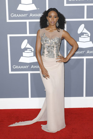 Kelly Rowland Best Dressed at the 2012 Grammy Awards