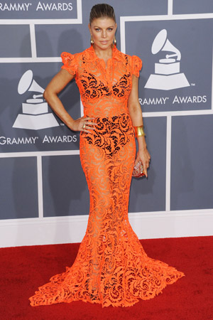 Worst dressed at the 2012 Grammy Awards -- Fergie