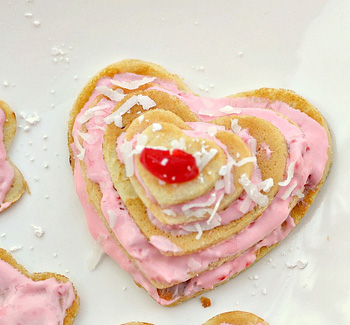 Heart crepe stack