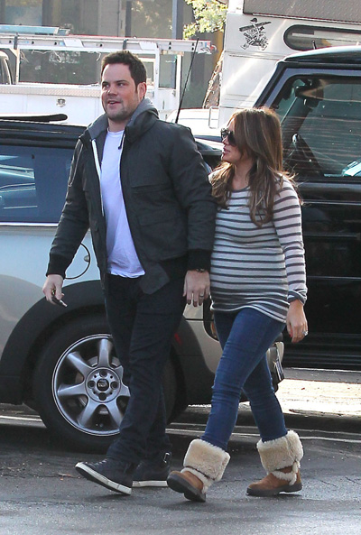 Pregnant Hilary Duff and Mike Comrie