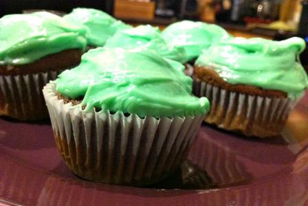 Dark chocolate Guinness cupcakes