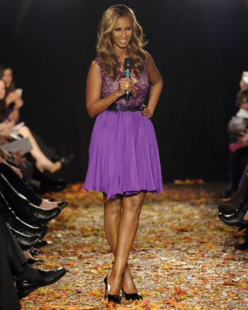 Iman at NY Fashion week