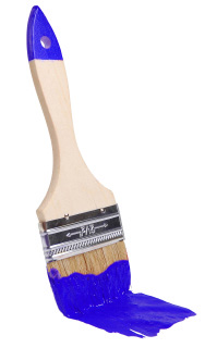 Blue paintbrush