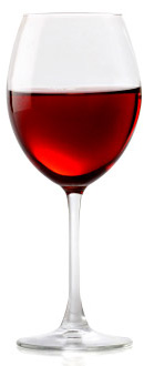 isolated red wine 3 Diet friendly alcoholic beverages