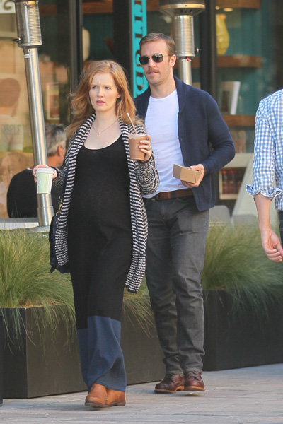 James Van Der Beek and pregnant wife Kimberly Brook