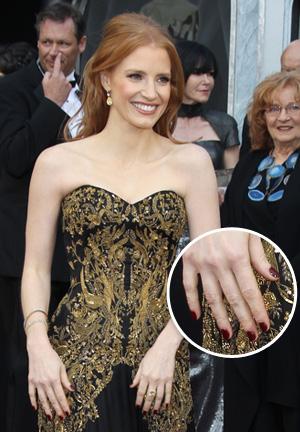 Jessica Chastain's Oscars 2012 nail polish color
