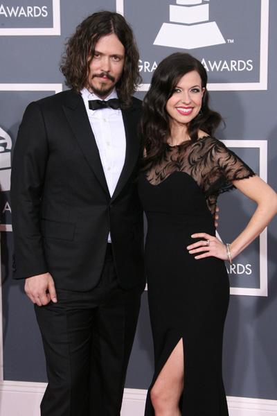 Pregnant Joy Williams at 2012 Grammy Awards
