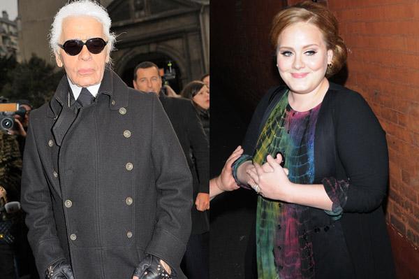 "Designer says Adele has a ""pretty face"""