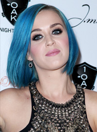 Katy Perry -- Blue hair bob
