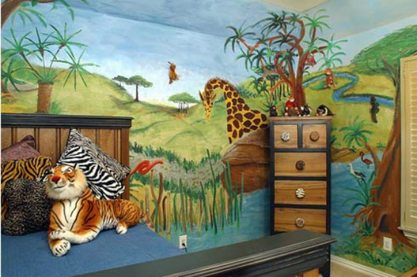 Kid's bedroom - jungle theme