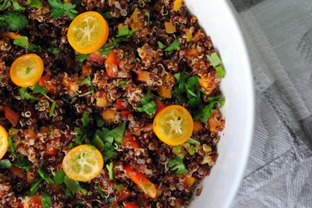 kumquat quiona salad