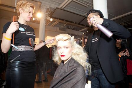New York Fashion Week faux bangs