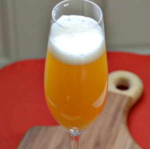 A Moneyball beermosa