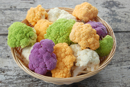 Multi-colored cauliflower