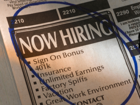Classified job ads