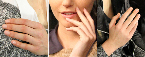 Fashion Week beauty trends -- Nude nails