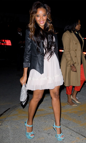 Angela Simmons at New York Fashion Week