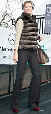 Ivanka Trump at New York Fashion Week