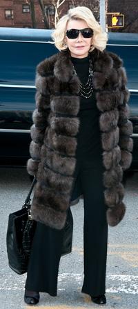 Joan Rivers at New York Fashion Week
