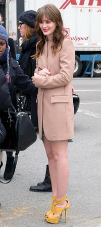 Leighton Meester at New York Fashion Week