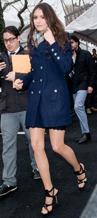 Nina Dobrev at New York Fashion Week