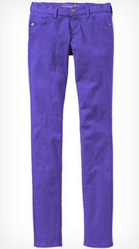 rock star colored super skinny jeans
