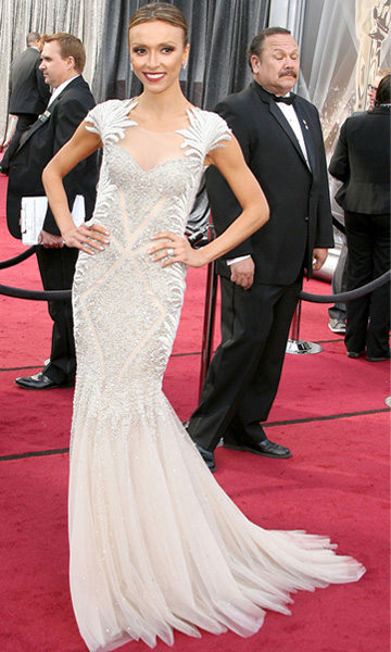 Giuliana Rancic -- Oscars 2012 red carpet