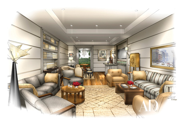 Oscar greenroom rendering
