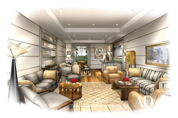Waldo Fernandez designs Academy Awards lounge