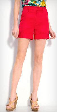 Marc by Marc Jacobs 'Clark' twill shorts in convertaible red