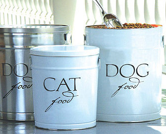 ...food bags and give up valuable cupboard space.  These metal canisters...