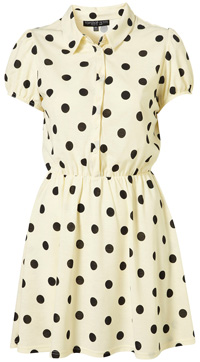 Pretty in polka dots -- Jersey shirt dress