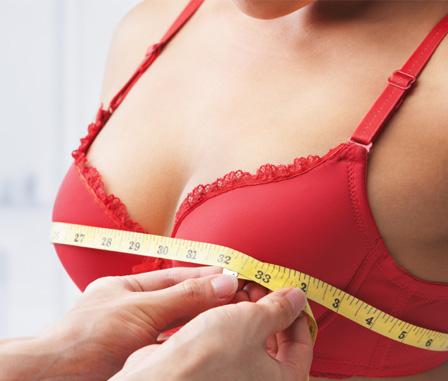 Woman having a bra fitting