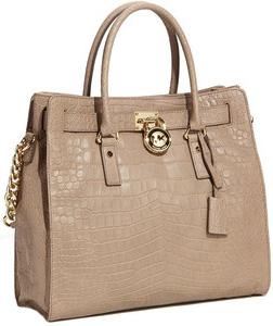 Michael Kors 'Hamilton' Croc Embossed bag (Nordstrom.com, $398)