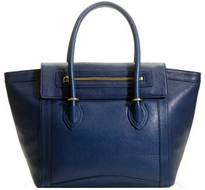 J. Crew Tillary Tote in blue (jcrew.com, $328).