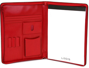 Chic, red leather Audrey PDA Portfolio (lodis.com, $168).