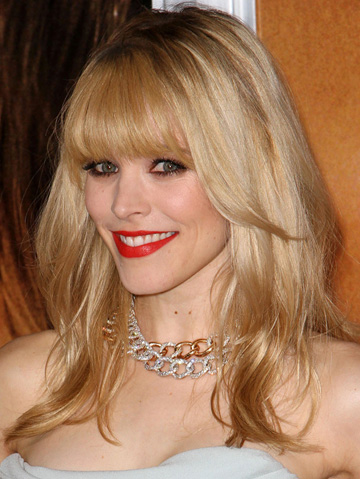 Rachel McAdams with bangs