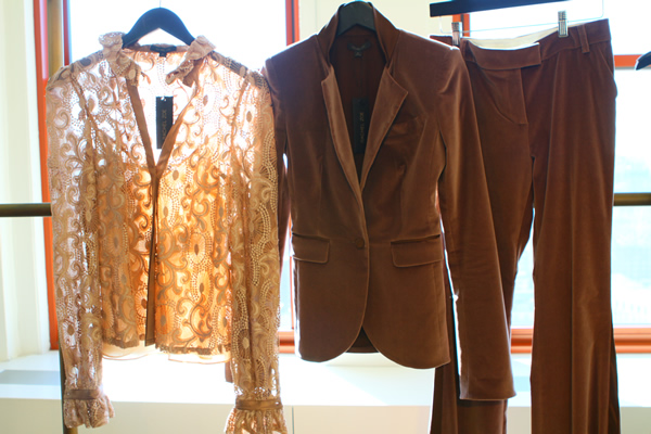 Rachel Zoe Fashion Collection: Brown pant suit and blouse