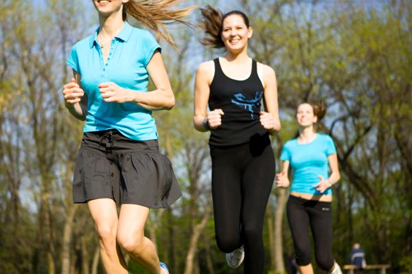 Stylish women running