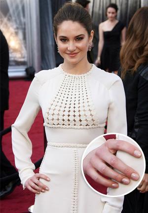 Shailene Woodley Oscars 2012 nail polish color