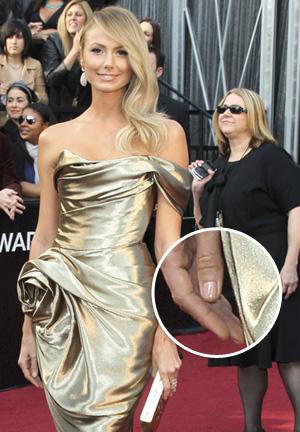 Stacy Keibler's Oscars 2012 nail polish color