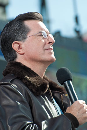 Stephen Colbert returns to the Colbert Report