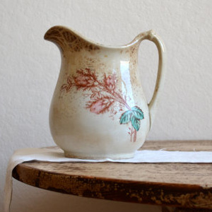 Antique Steubenville China Pitcher