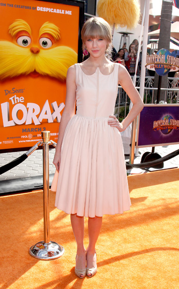 Tayor Swift at Lorax premiere