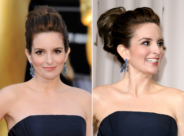 Tina Fey's hairstyle at 2012 Oscars