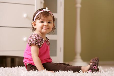 Toddler in nursery