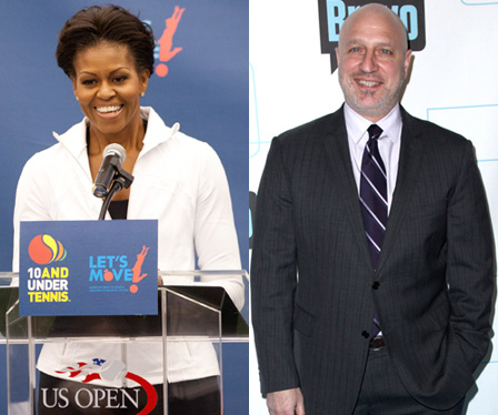 Top Chef Head Judge Tom Colicchio and Michelle Obama