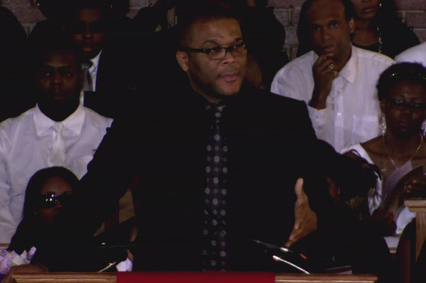 Tyler Perry speaks at Whitney Houston's funeral